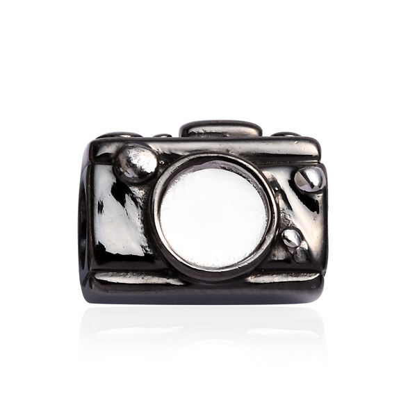 Charmes De Memoire Camera Charm in Platinum Plated Sterling Silver 3.70 Grams