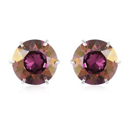 J Francis Lilac Shadow Crystal from Swarovski Stud Earrings in Sterling Silver