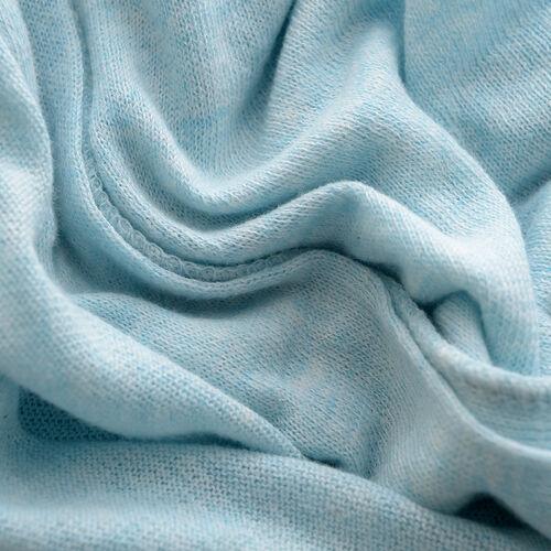 100% Cotton Light Blue Colour Apparel (Size 80x45 Cm)