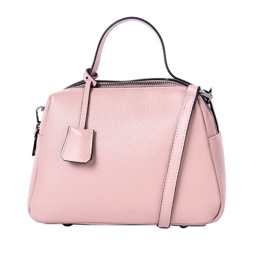 Sencillez 100% Genuine Leather Convertible Bag in Dusty Pink