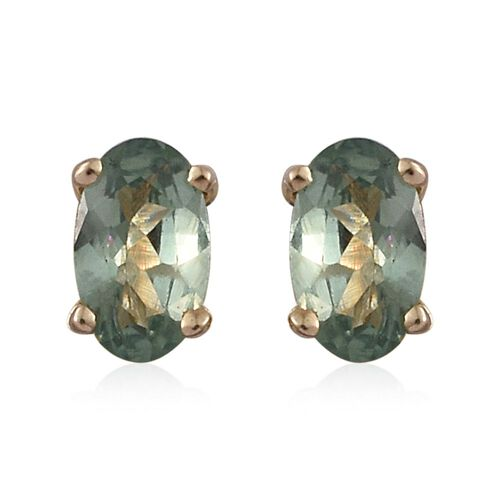 9K Yellow Gold 0.50 Carat AA Narsipatnam Alexandrite Solitaire Stud Earrings (with Push Back)