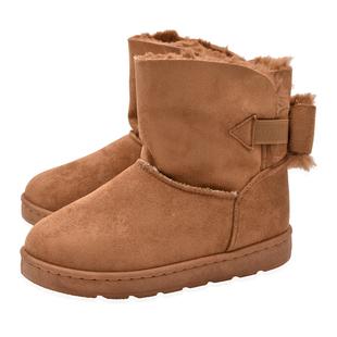 Camel Colour Faux Fur Lined Ankle Boots