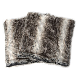 2 Piece Set - Faux Fur with Reverse Mink Cushion Covers (Size 45x45 Cm)