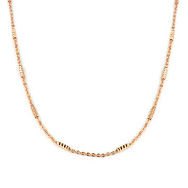 Tube Chain in Rose Gold Plated Sterling Silver 24 Inch