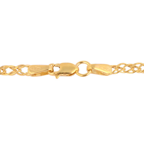Italian Made - 9K Yellow Gold Double Curb Necklace (Size 20)