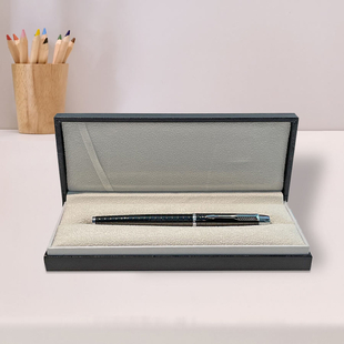 Azarine Arrow Roller Pen with Snap Closure - Black