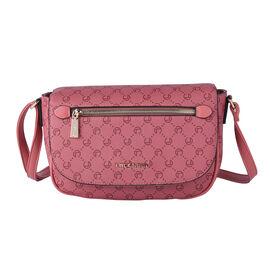 LOCK SOUL Crossbody Bag with Shoulder Strap (Size 26x23x10Cm) - Pink