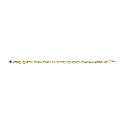 Chain Necklace in 9K Yellow and White Gold 17 with 2.5 inch Extender