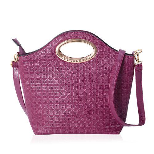 Set of 2-Rich Purple Colour Large Size Bag (Size 43x31x29x14.5 Cm) and Middle Size Bag (Size 33x24x22x8 Cm) with Removable Shoulder Strap.