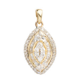 Signature Collection 18K Yellow Gold IGI Certified Diamond (Rnd) (GH SI to I2) Pendant 0.500 Ct.