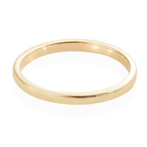 ILIANA 18K Yellow Gold 2mm Plain Wedding Band Ring, Gold Wt. 1.97 gms