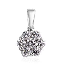 RHAPSODY 950 Platinum IGI Certified Diamond (VS/E-F) Floral Cluster Pendant 1.00 Ct.
