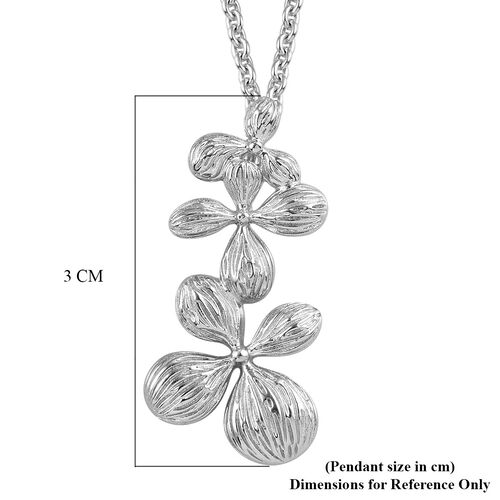 RACHEL GALLEY Platinum Overlay Sterling Silver Pendant with Chain, Silver wt. 11.43 Gms
