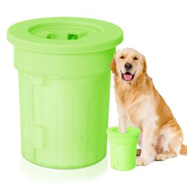 Green Colour Pet Wash Feet (Size 11.5x10 Cm)