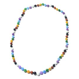 388.45 Ct Multi Colour Jade Beaded Necklace 30 Inch