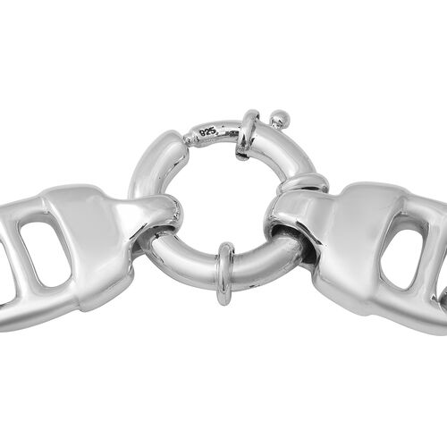 One Time  Close Out Deal- Sterling Silver Link Bracelet (Size 7) with Senorita Clasp, Silver wt 20.90 Gms