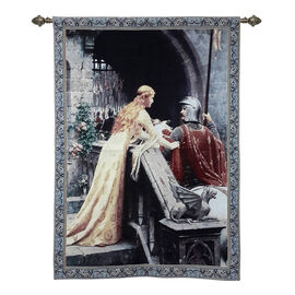 Signare Tapestry - Edmund Blair Leighton Gods Speed Wall Hanging (Size 139x98 Cm)