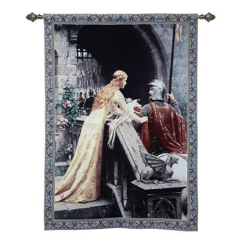 Signare Tapestry - Edmund Blair Leighton Gods Speed Wall Hanging (Size 139x98 Cm)