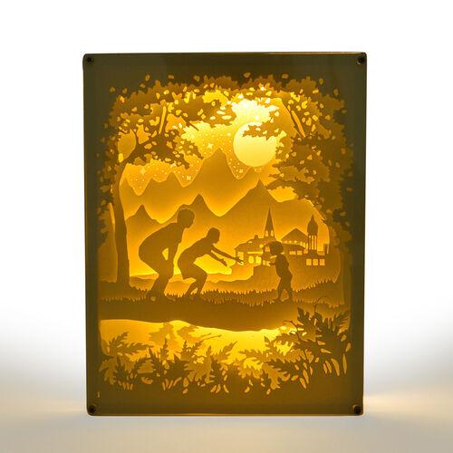 Fairy Tale Lighting with Paper Cut 3D Fantasia Motif (Size 26x20 cm)