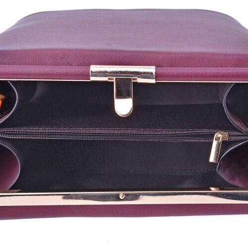 Laser Cut Floral Pattern Lavender Colour Clutch Bag With Unique Adjustable Strap (Size 20x20x15 Cm)