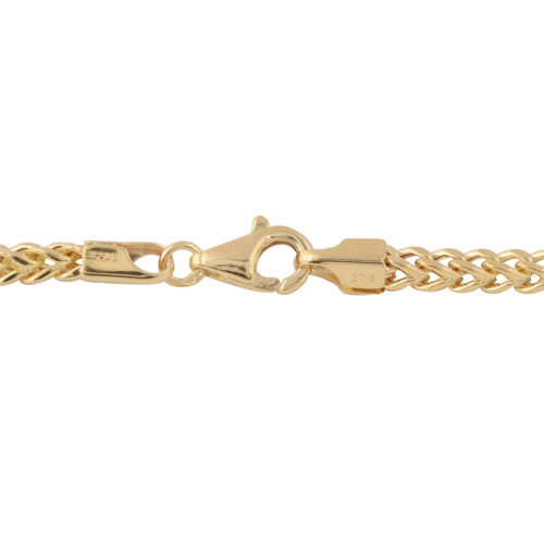 Italian Made 9K Yellow Gold Franco Necklace (Size 18),  Gold wt 7.00 Gms