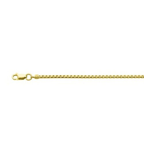 JCK Vegas Collection 14K Gold Overlay Sterling Silver Box Chain (Size 20), Silver wt 4.92 Gms.