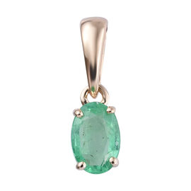 Colombian Emerald (0.50 Ct) 9K Y Gold Pendant  0.500  Ct.