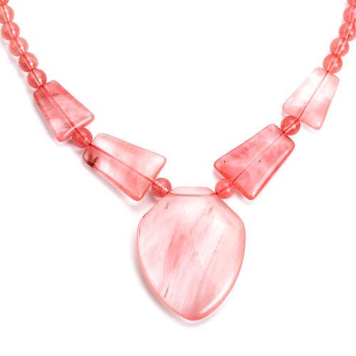 Cherry Quartz Necklace (Size 20 with Extender)