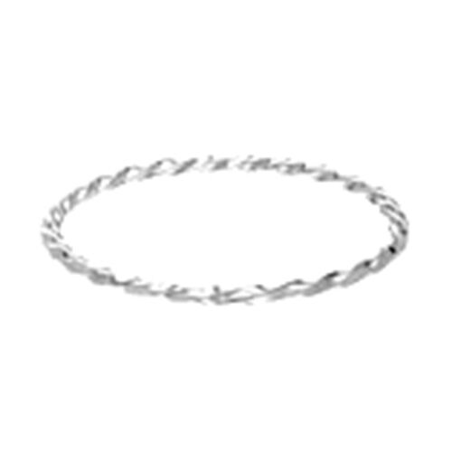 Close Out Deal-Sterling Silver Twisted Bangle (Size 8), Silver wt. 10.01 Gms.