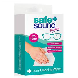 Safe & Sound: Lens Cleaning Wipes - 20 (Pack of 2)