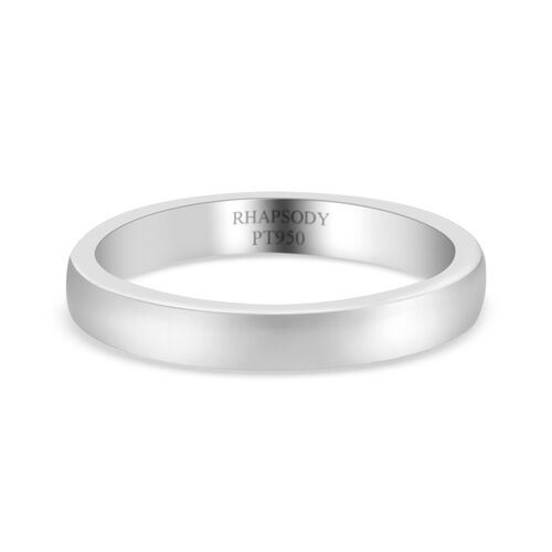 RHAPSODY Supreme Finish 4mm Plain Wedding Band Ring in 950 Platinum 4.96 grams
