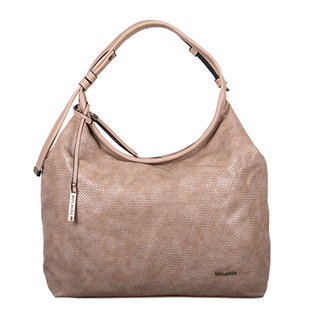 Bulaggi Collection - Mila Hobo Shoulder Bag with Zipper Closure (Size 35x28x11cm) - Camel