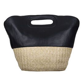 Bulaggi Collection - Silt Handbag with Zipper Closure (Size 24x31x19 Cm ) - Black