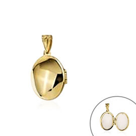 Openable Solitaire Pendant in 9K Yellow Gold