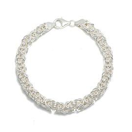 Viale Argento Rhodium Overlay Sterling Silver Byzanite Bracelet (Size 7.5)