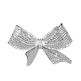 Royal Bali Collection - Sterling Silver Bow Design Brooch or Pendant, Silver wt 6.41 Gms