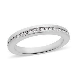 RHAPSODY 950 Platinum IGI Certified Diamond (Rnd) (VS/E-F) Half Eternity Band Ring 0.200 Ct, Platinu