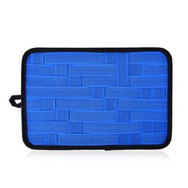 Blue Colour Grid Pattern iPod, iPhone, Blackberry and Other Digital Devices Organizers (Size 31x21 C