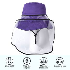 Bucket Protection Hat with Detachable Safety Protective Face Eye Shield Screen (Perimeter: 57Cm) - P