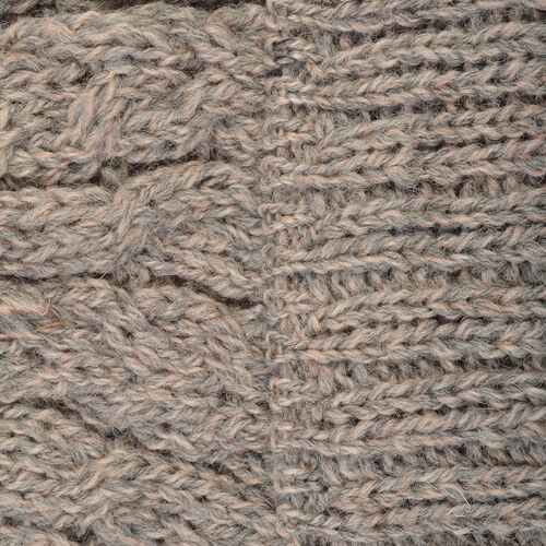 Aran 100% Pure Woollen Mills Cable Irish Hat in Grey Colour (One Size)