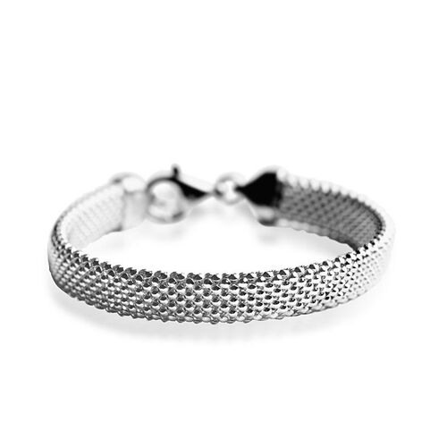 Vicenza Collection Sterling Silver Bracelet (Size 7.5), Silver wt 13.00 Gms.