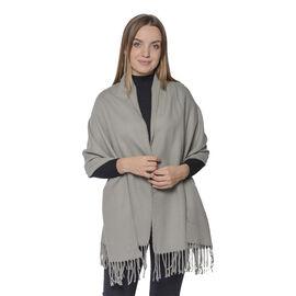 Warm Scarf with Fringe (Size 63x170+10cm) - Grey