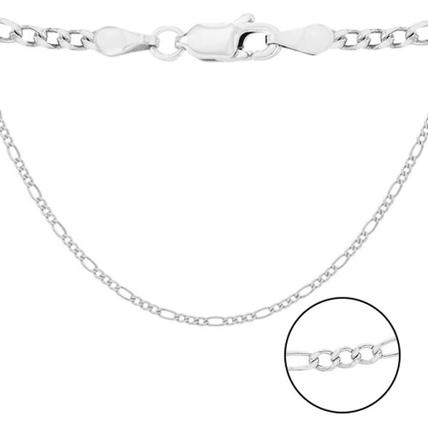 Sterling Silver Figaro Chain (Size 18), Silver wt 9.40 Gms