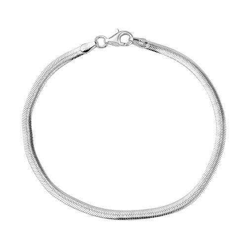 Sterling Silver Snake Chain Bracelet (Size 7)