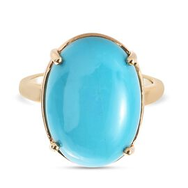 Arizona Sleeping Beauty Turquoise Ring in 14K Gold Overlay Sterling Silver 9.490 Ct.