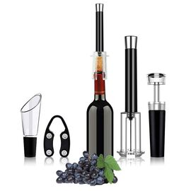 Set of 4 - Wine Opener Set (Include Foil Cutter, Bottle Cork Opener, Aerator Pourer and Vacuum Seale