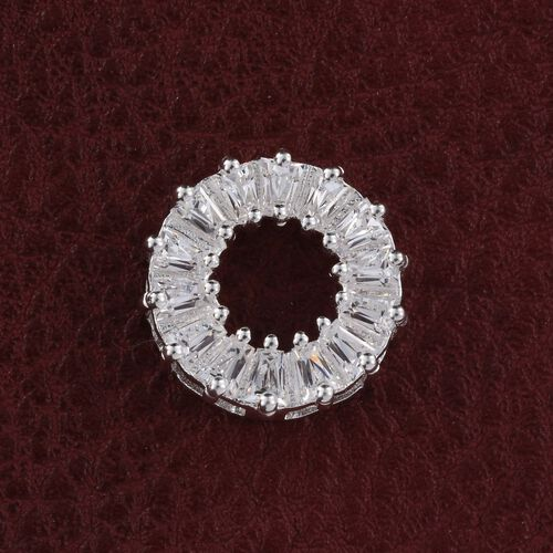 J Francis - Sterling Silver (Bgt) Circle of Life Pendant Made with SWAROVSKI ZIRCONIA