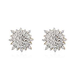 0.50 Carat Diamond Hoop Earrings in Gold Plated Sterling Silver