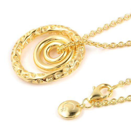 RACHEL GALLEY Yellow Gold Overlay Sterling Silver Necklace (Size 20), Silver wt 10.73 Gms.