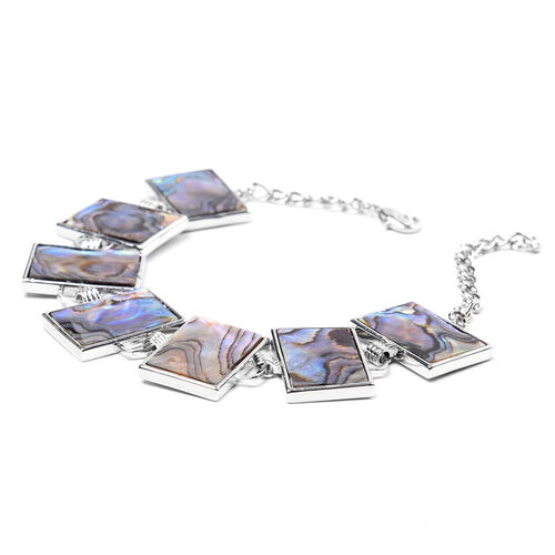 Abalone Shell Bracelet (Size 7 with 2 inch Extender) - Rectangle